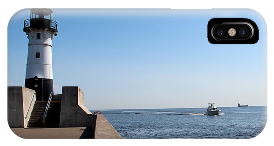 Light IPhone X Case featuring the photograph Duluth Harbor North Breakwater Lighthouse by George Jones