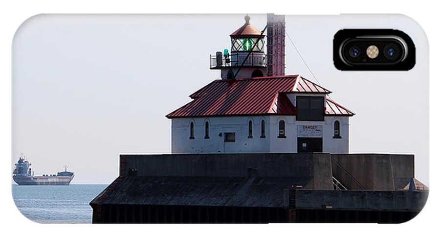 Light IPhone X Case featuring the photograph Duluth Harbor South Breakwater Lighthouse by George Jones