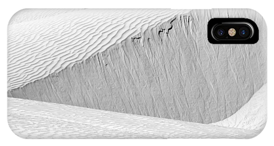 Abstract IPhone X / XS Case featuring the photograph Dune Abstract, Paryang, 2011 by Hitendra SINKAR