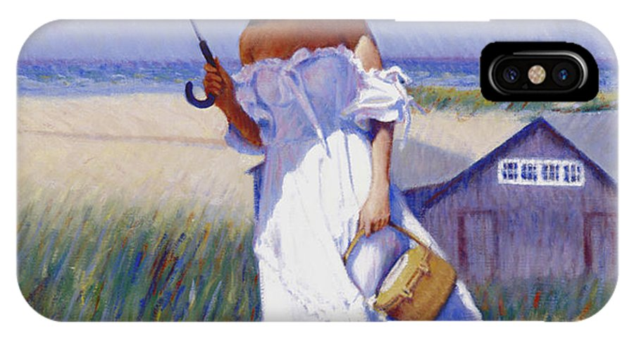 Impressionist IPhone X Case featuring the painting Dune High by Candace Lovely