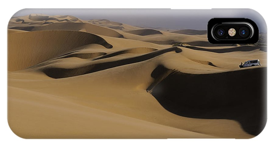 Namibia IPhone X Case featuring the photograph Dune Riders by Tony Beck