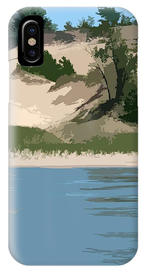 Dunes IPhone X Case featuring the photograph Dunes Of Lake Michigan by Michelle Calkins