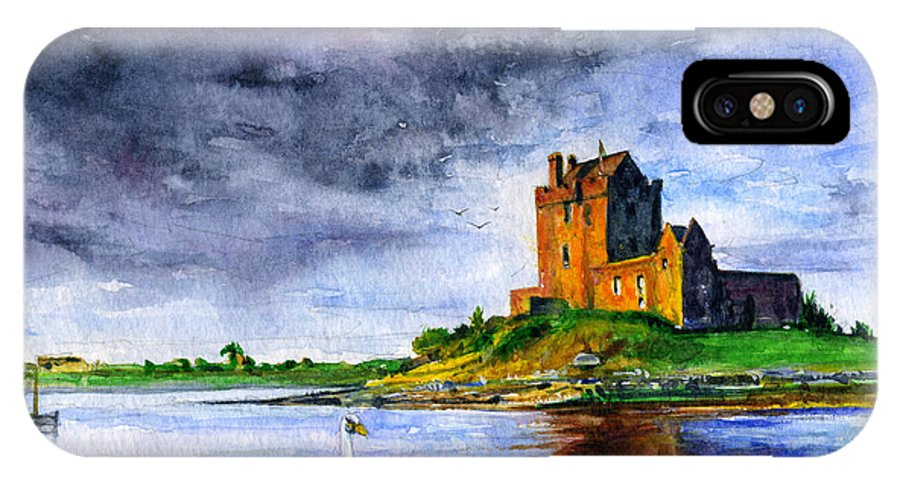 Dunguaire IPhone X Case featuring the painting Dunguaire Castle Ireland by John D Benson