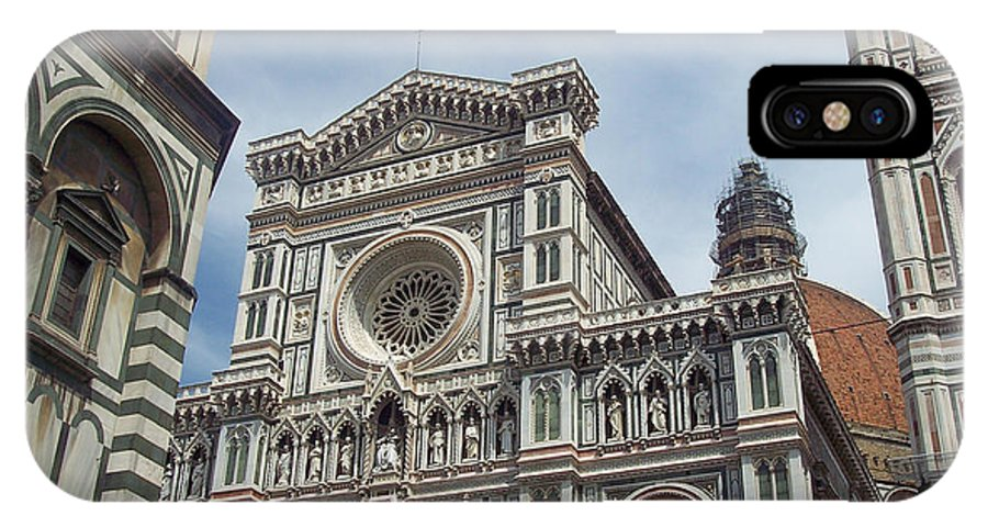 Duomo Florence IPhone X Case featuring the photograph Duomo Florence by David Nichols