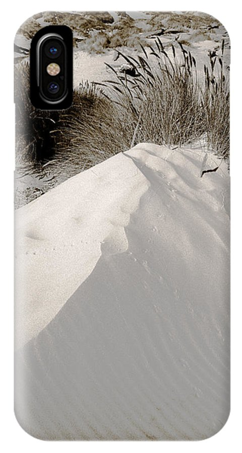 Duotone Art IPhone X Case featuring the photograph Duotone Dune by Bonnie Bruno