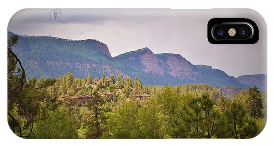 Durango IPhone X Case featuring the photograph Durango Colorado Purgatory by Monique Swanson