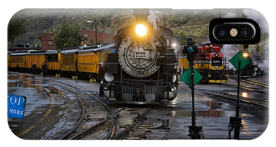 Durango IPhone X Case featuring the photograph Durango Railroad Yard Dsc07570 by Greg Kluempers