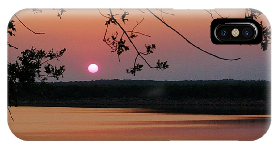 Lake IPhone X Case featuring the photograph Dusk Falls by Willetta Crowe