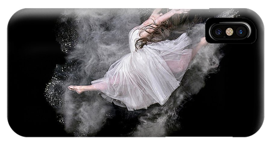 Powder IPhone X Case featuring the photograph Dust Dancer by Pauline Pentony Ma