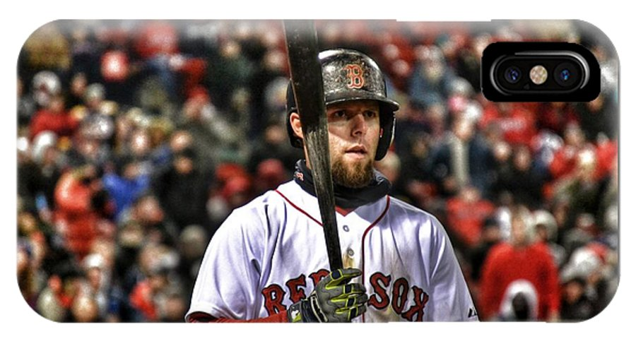 Red Sox IPhone X Case featuring the photograph Dustin Pedroia by SoxyGal Photography