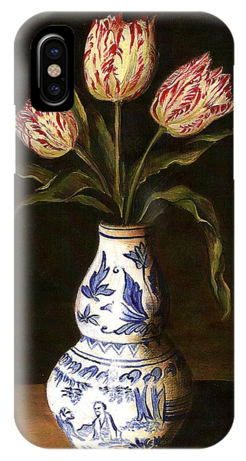 Dutch Still Life IPhone X Case featuring the painting Dutch Still Life by Teresa Carter