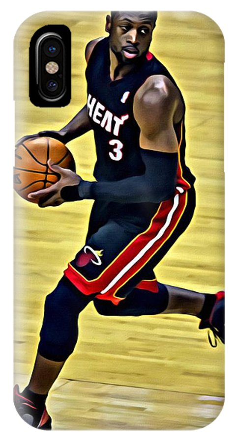 cbfd0f7b427 Dwyane Wade IPhone X Case featuring the painting Dwyane Wade Portrait by  Florian Rodarte