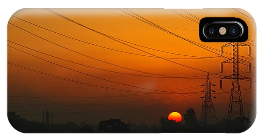 Sun IPhone X Case featuring the photograph Dying Sun by Ahmad Elsawy