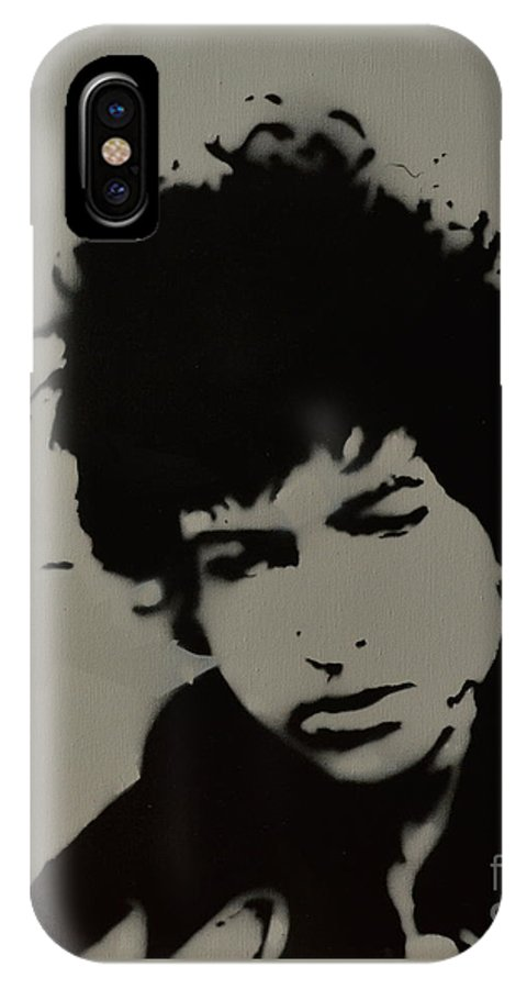 Dylan. Bob Dylan IPhone X Case featuring the painting Dylan Spray Art by Laura Toth