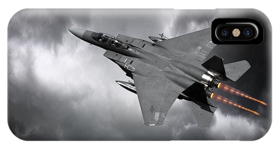 F-15 Eagle IPhone X Case featuring the digital art Eagle Power by J Biggadike