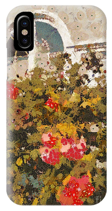 Klimt IPhone X Case featuring the photograph Alameda Roses by Linda Weinstock