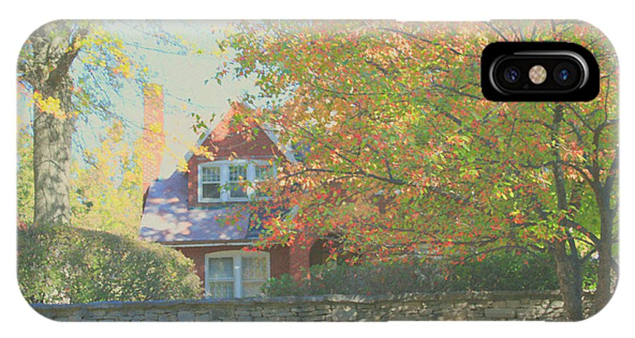 Autumn IPhone X / XS Case featuring the photograph Early Autumn Home by Andrea Lynch