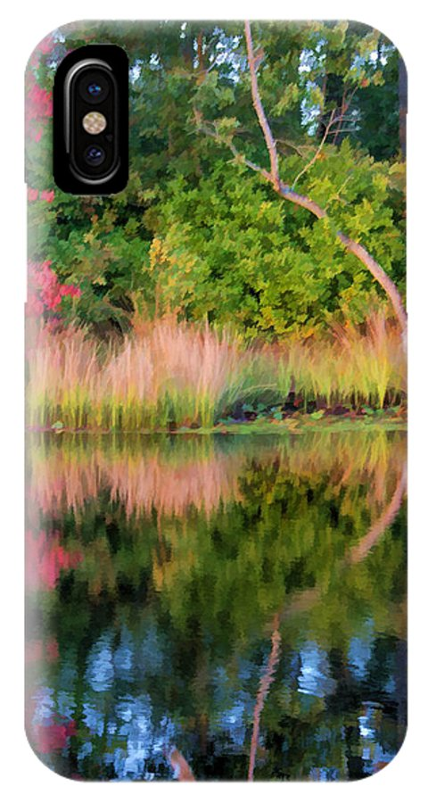 Fall IPhone X Case featuring the photograph Early Fall Reflection by Beth Sawickie
