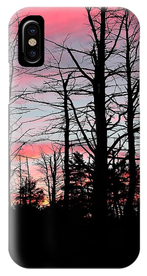 Evening IPhone X Case featuring the photograph Early Fall Sky Vi by Brian Lucia