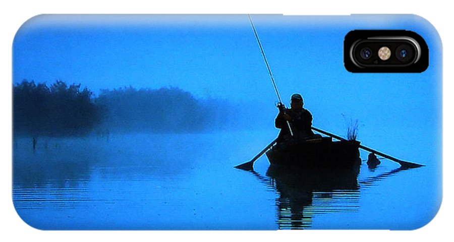 Colette IPhone X Case featuring the photograph Early Morning Fishing by Colette V Hera Guggenheim