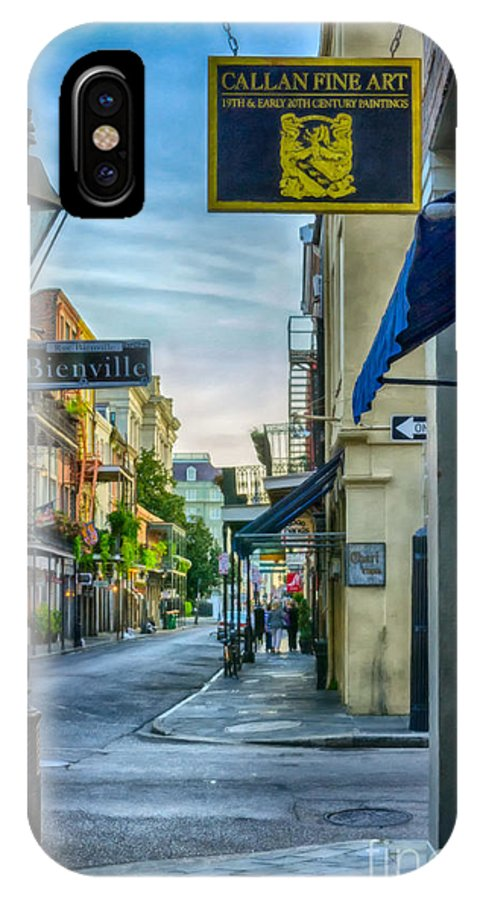 2014 IPhone X Case featuring the photograph Early Morning In French Quarter Nola by Kathleen K Parker