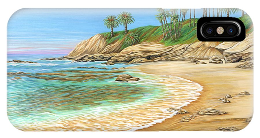 Beach IPhone Case featuring the painting Early Morning Laguna by Jane Girardot