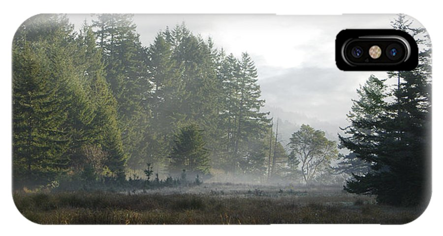 Misty Meadow IPhone X Case featuring the photograph Early Morning Mist by Marilyn Wilson