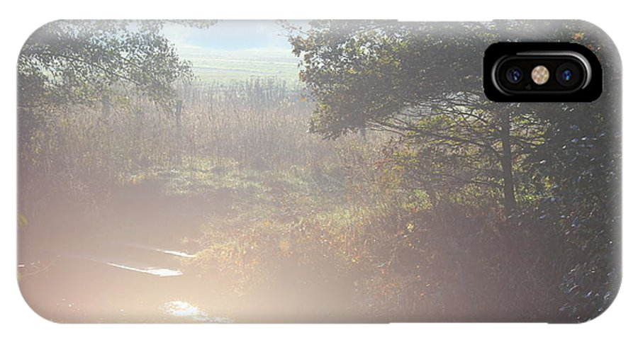 Landscape IPhone X Case featuring the photograph Early Sunny Morning by Four Hands Art