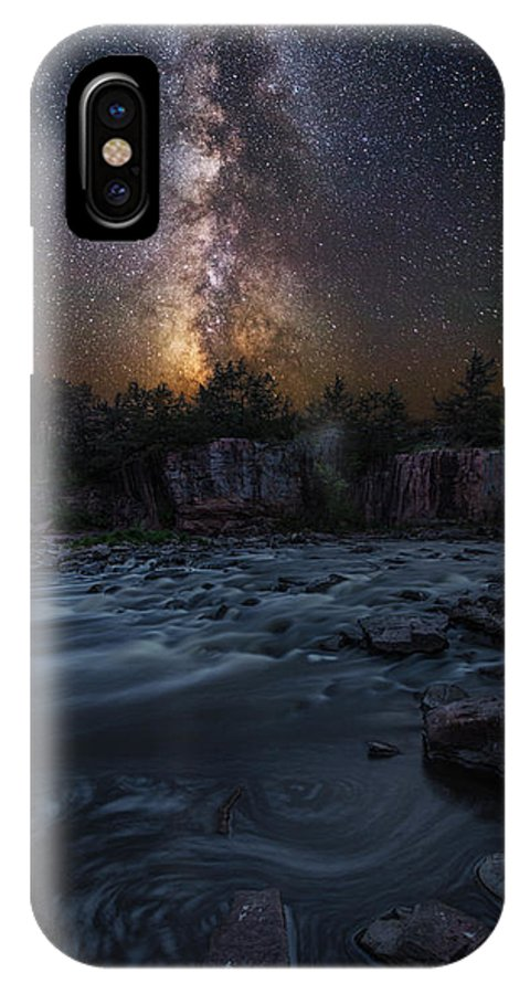 Milky Way IPhone X / XS Case featuring the photograph Earth And Sky by Aaron J Groen