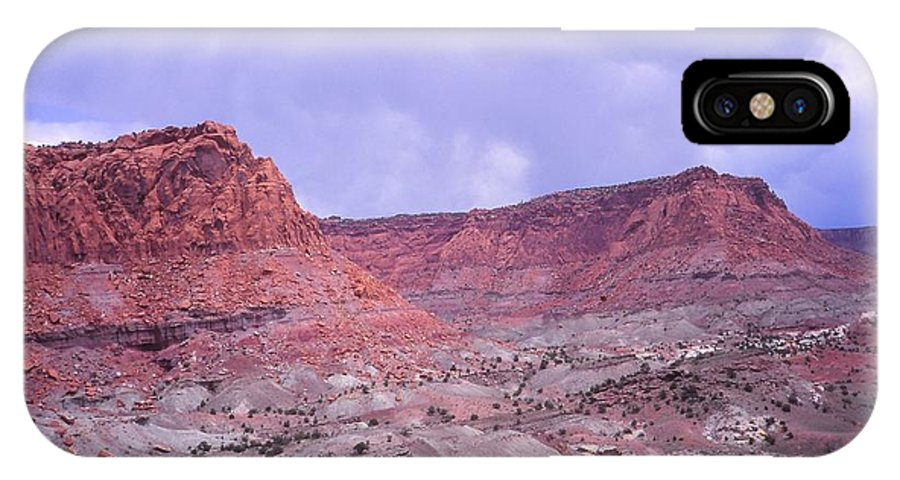 Southern Utah IPhone X Case featuring the photograph Earth And Sky by Cynthia Wallentine