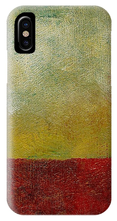 Abstract Landscape IPhone X Case featuring the painting Earth Study One by Michelle Calkins