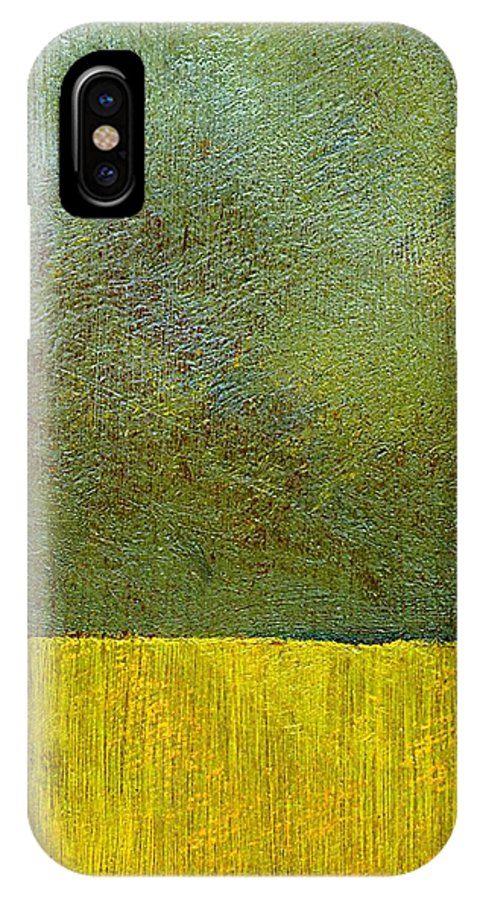 Abstract Landscape IPhone X Case featuring the painting Earth Study Two by Michelle Calkins