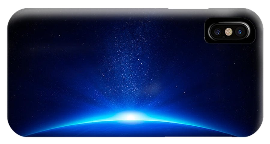 Earth IPhone X Case featuring the photograph Earth Sunrise In Space by Johan Swanepoel