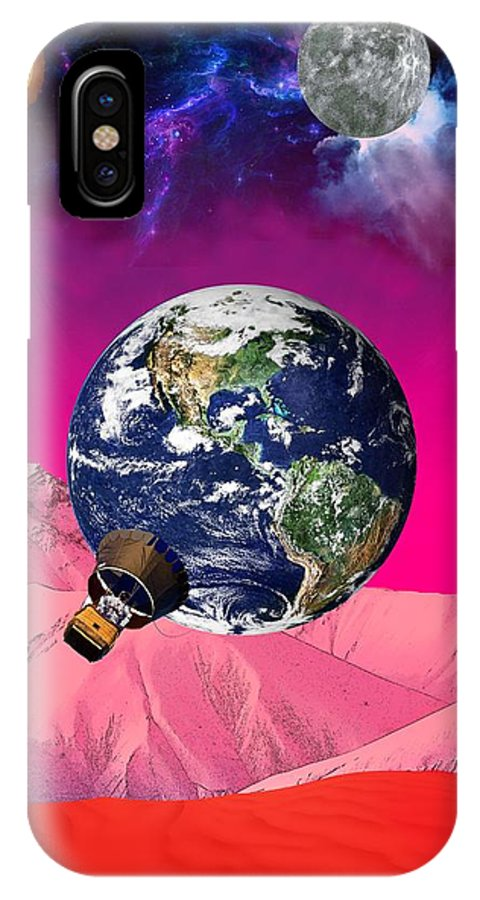 Earth IPhone X / XS Case featuring the digital art Earth To Mars by Bruce Iorio