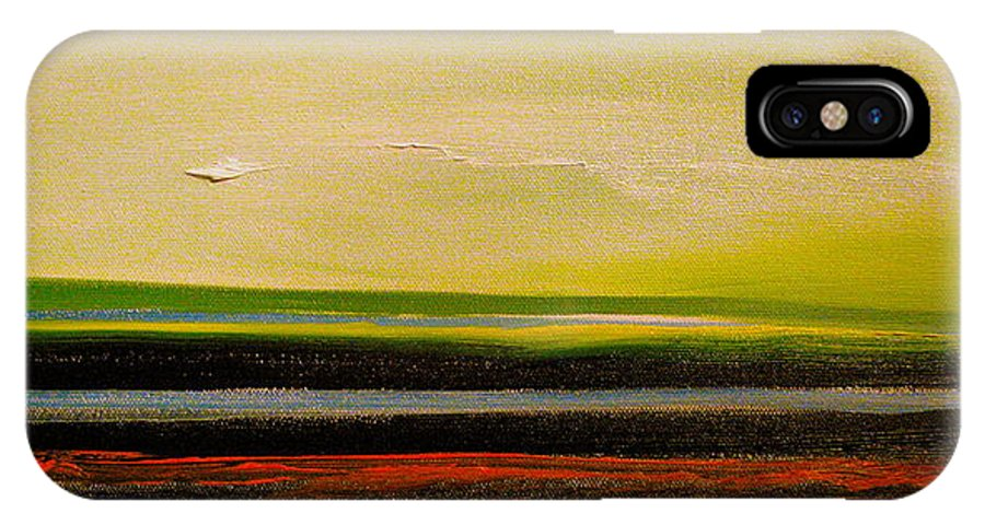 Landscape IPhone X Case featuring the painting Earth Tones by Frank B Shaner