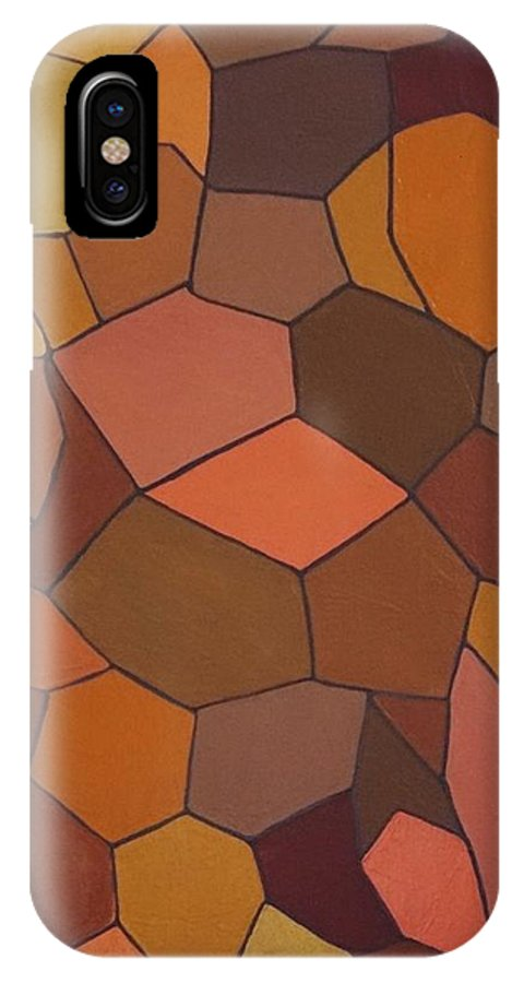 IPhone X Case featuring the painting Earthy Angles by Turk Humphrey