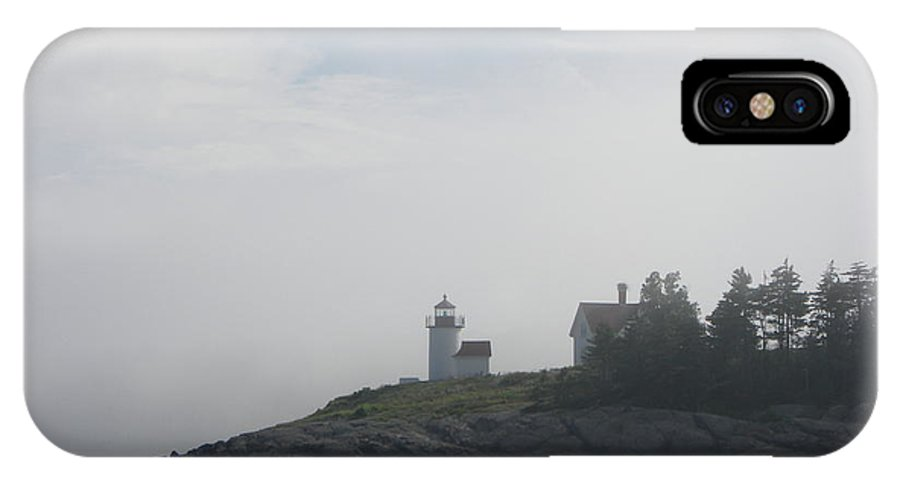 Lighthouse IPhone X Case featuring the photograph East Coast I by Lai S Smith
