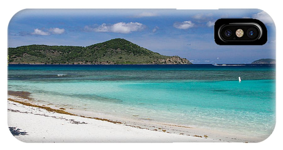 St. Thomas IPhone X Case featuring the digital art East End Beach by Thomas Kaestner