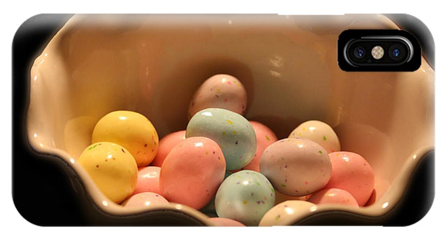 Photography IPhone X Case featuring the photograph Easter Candy Malted Milk Balls I by Lesa Fine