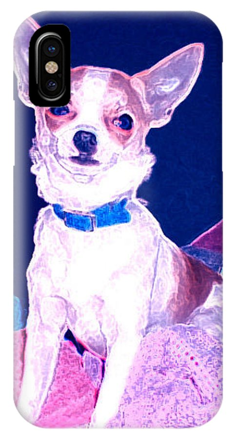 Chihuahua IPhone X Case featuring the photograph Easter Chachi by Leah Delano