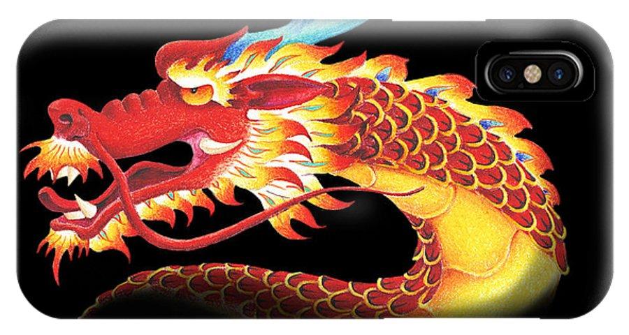 Dragon IPhone X Case featuring the digital art Eastern Dragon by Melissa A Benson