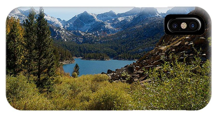 Eastern Sierras IPhone X Case featuring the photograph Eastern Sierras 22 by Richard J Cassato