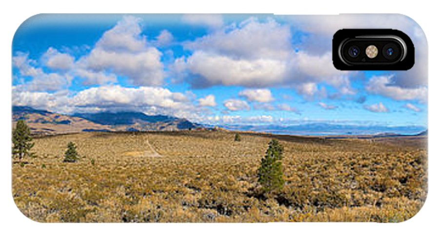 Eastern Sierras IPhone X Case featuring the photograph Eastern Sierras 29 Pano by Richard J Cassato
