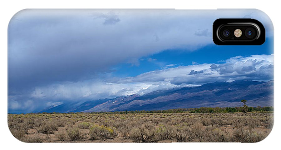 Eastern Sierras IPhone X Case featuring the photograph Eastern Sierras 7 by Richard J Cassato