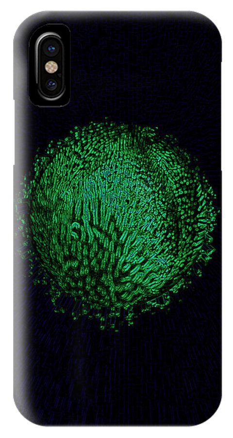 Green IPhone X Case featuring the digital art Eco Globe by Bliss Of Art