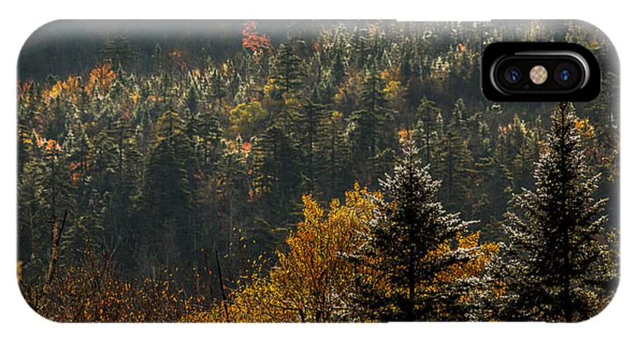 Autumn IPhone X Case featuring the photograph Edge Of Light by Jonathan Steele