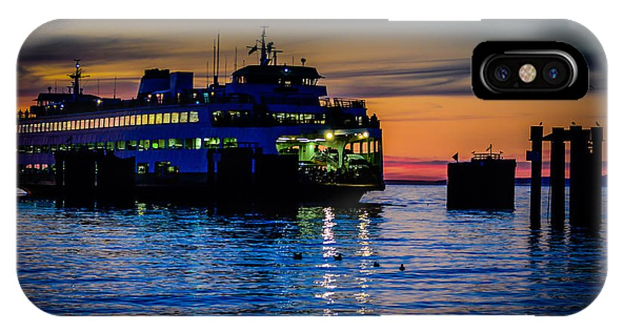 Edmonds IPhone X Case featuring the photograph Edmonds Washington State Ferry Terminal by Puget Exposure