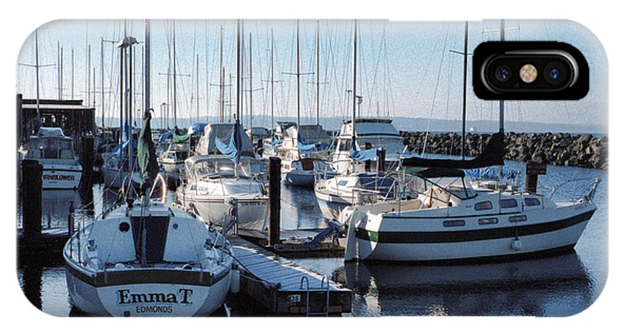 Edmonds IPhone X Case featuring the photograph Edmonds Yacht Club by Robert Meyers-Lussier