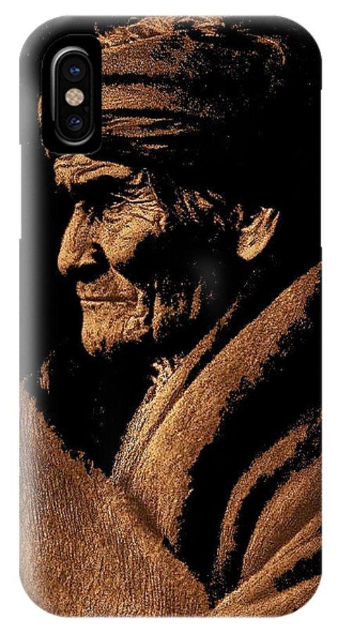 Edward S. Curtis Photograph Of Geronimo Carlisle Pennsylvania 1905 IPhone X Case featuring the photograph Edward S. Curtis Photograph Of Geronimo Carlisle Pennsylvania 1905-2013 by David Lee Guss