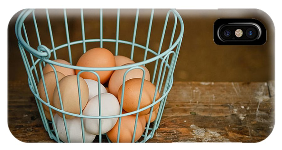 Eggs IPhone X / XS Case featuring the photograph Egg Basket by Carol Sullivan